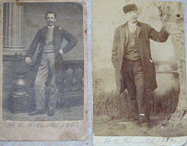 12: Pair of CDV's of Henry A. Fernald, 22nd M