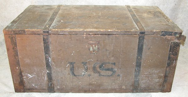13: 19th century Military Crate.