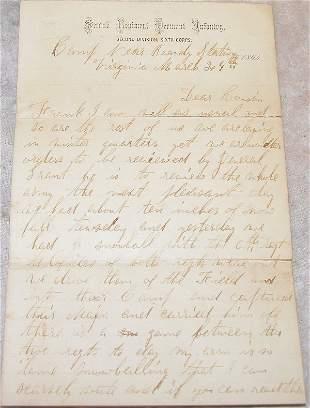 Civil War Letter-Snow Ball Fights.