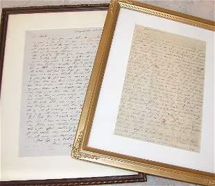 Pair of Civilian Civil War Period Letters