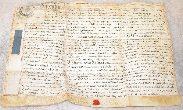 21: English Land Indenture - PA Lands 1746.
