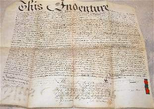 Land Indenture – Pennsylvania 1750.