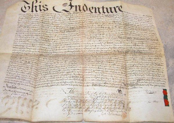 22: Land Indenture – Pennsylvania 1750.