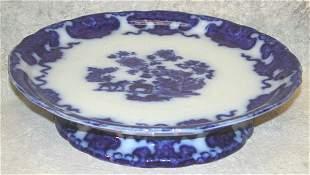Flow Blue Pedastaled Cake Plate – Cashme