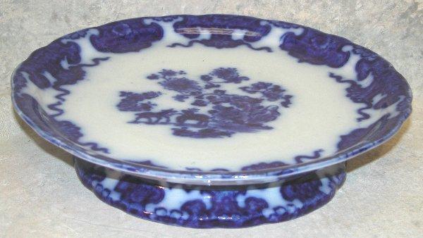 443: Flow Blue Pedastaled Cake Plate – Cashme