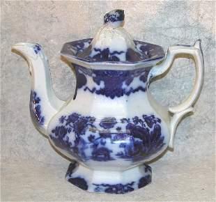Flow Blue Teapot, Acorn Finial – Cashmer
