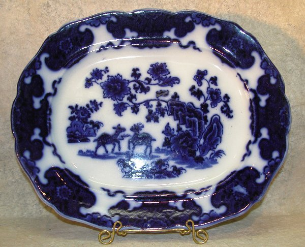 455: Flow Blue Platter – Cashmere.