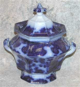 Flow Blue Lidded Sugar Bowl – Cashmere.