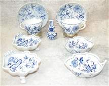 625: Grouping of Meissen Blue Onion Pieces.