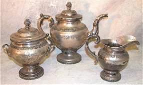 729: American Sterling Silver Tea Service.