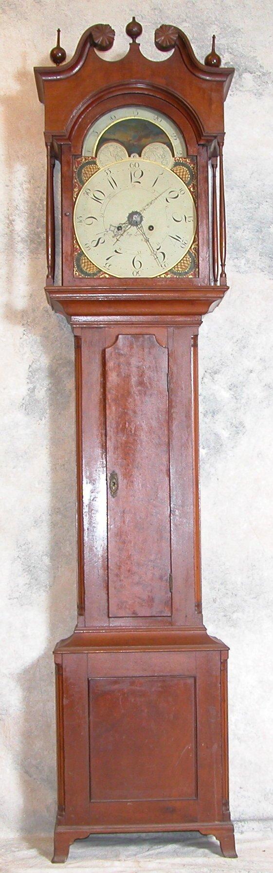 872: Jacob Hage Tall Case Clock.
