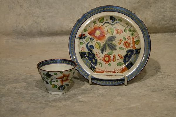 541: Gaudy Dutch Plate and Cup.