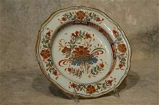 Faience Pottery Plate.