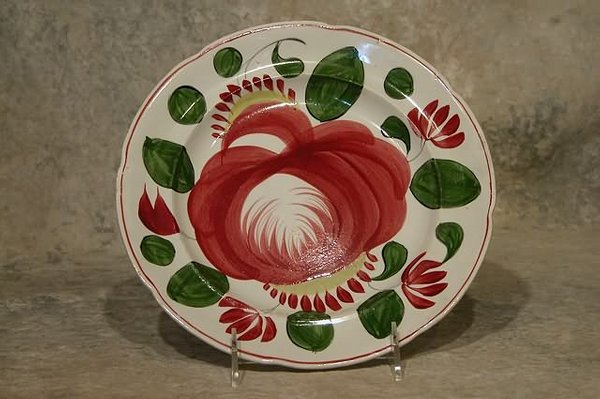 545: Cabbage Rose Plate.