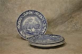 Four Staffordshire Plates.
