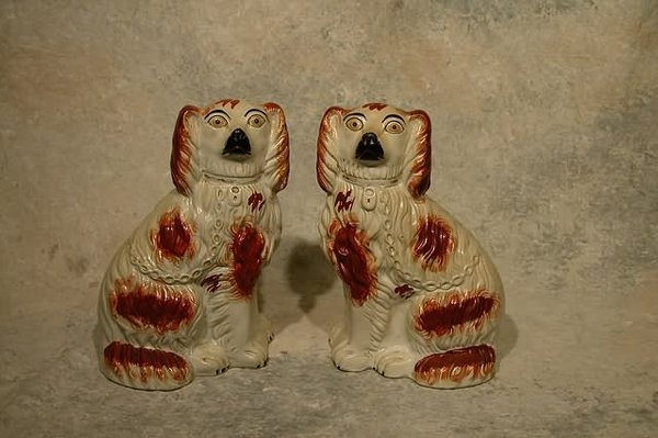 548: Pair of Staffordshire Dogs.