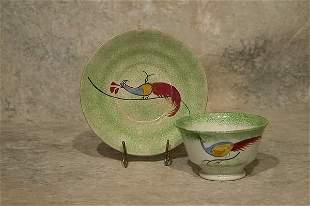 Spatterware Cup and Saucer.