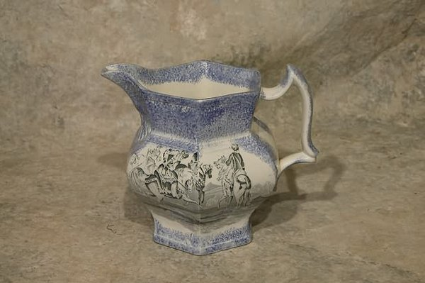 550: Sponge and Transfer Decorated Pitcher.