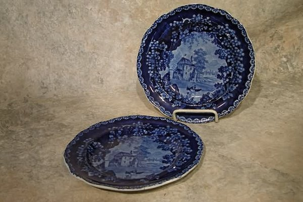 551: Two Staffordshire Plates.