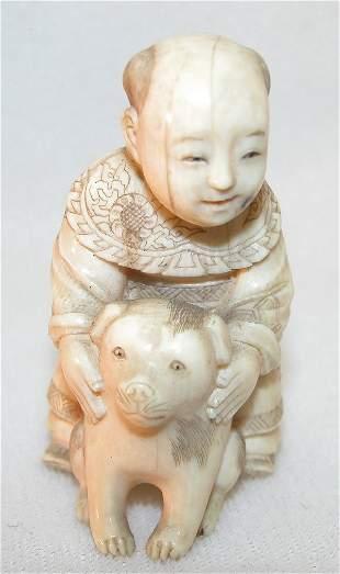 Small Carved Okimono.