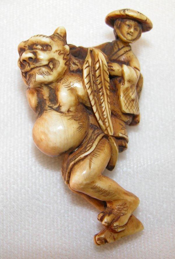 5: Carved Ivory Netsuke.