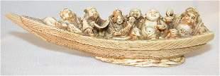 Carved Ivory Okimono.