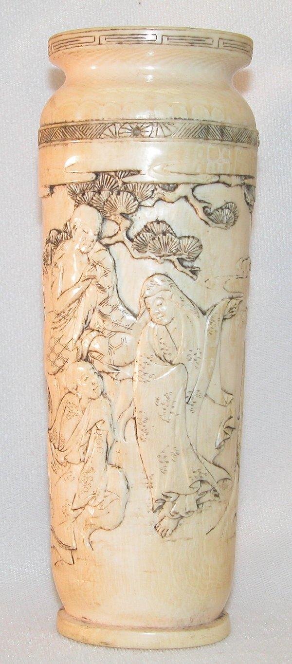 11: Carved Ivory Vase.