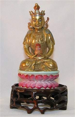 Porcelain Figure of Deity.