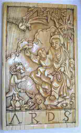 Carved Ivory Plaque.