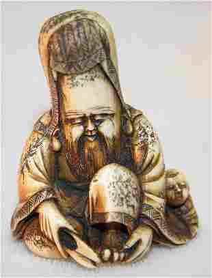 Carved Ivory Netsuke.