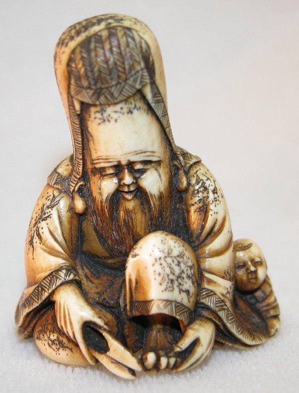 19: Carved Ivory Netsuke.