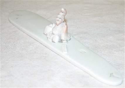 408: Porcelain Scroll Weight.