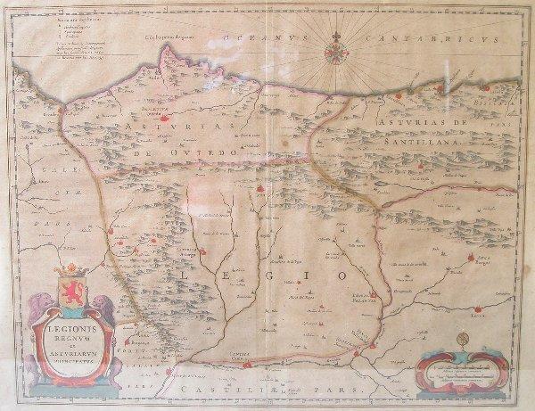 1002: 17th Century Map by Blaeu