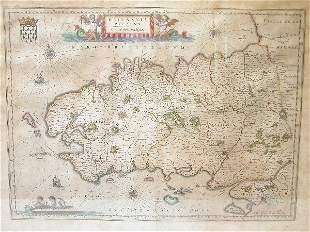 17th Century Map by Blaeu