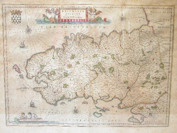 1003: 17th Century Map by Blaeu