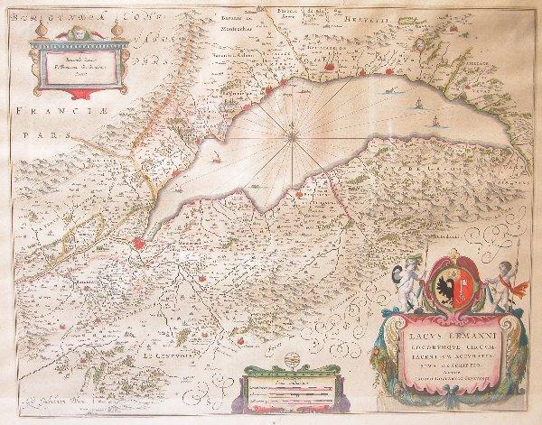 1004: 17th Century Map by Blaeu