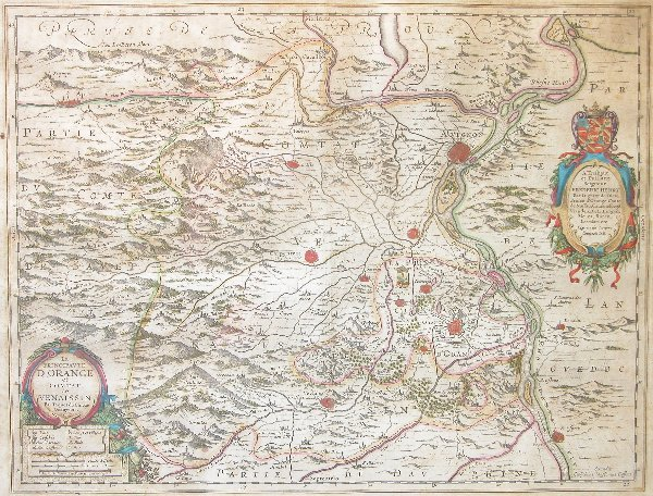 1005: 17th Century Map by Blaeu