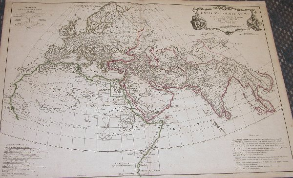 1008: 18th Century Map by D'Anville