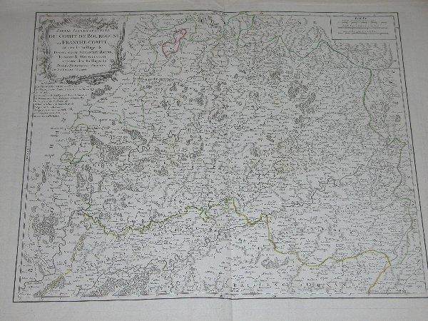 1011: 18th Century Map by Vaugondy