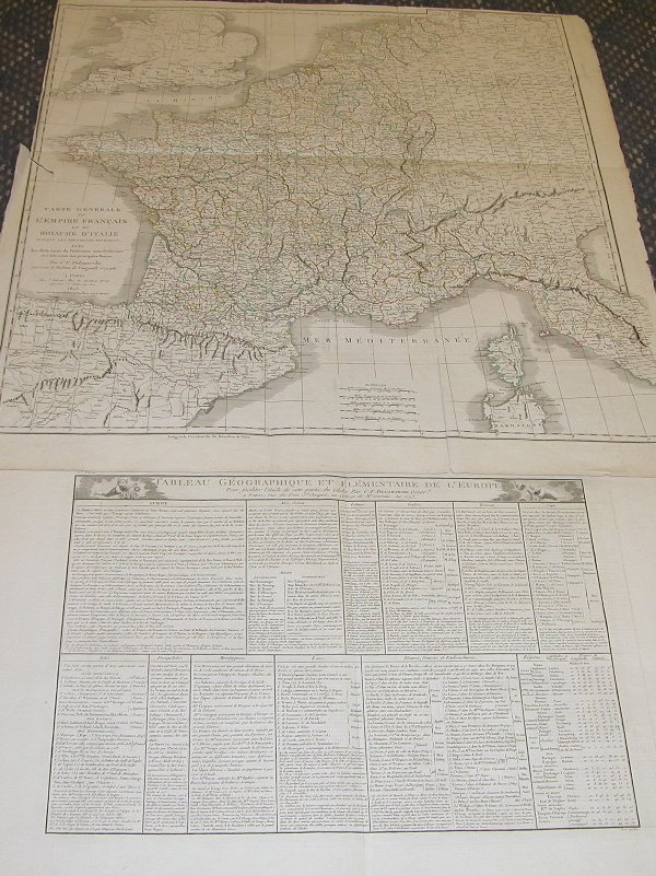 1012: Napoleonic Map by Delamarche