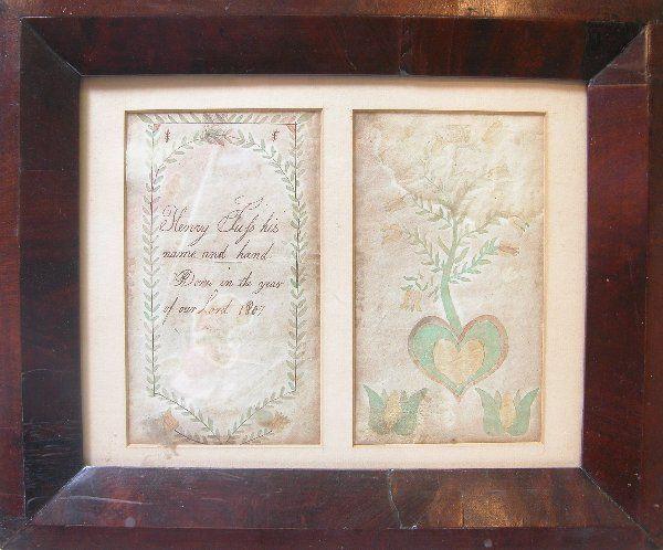 Pair of Fratur Bookplates