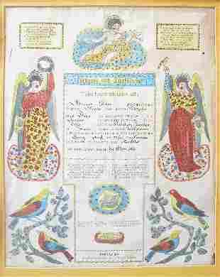 19th Century Taufschein