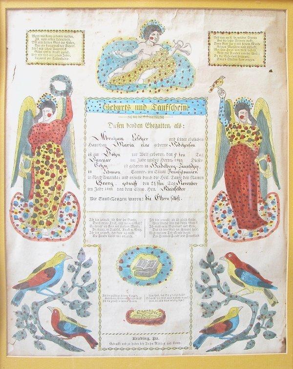 1020: 19th Century Taufschein