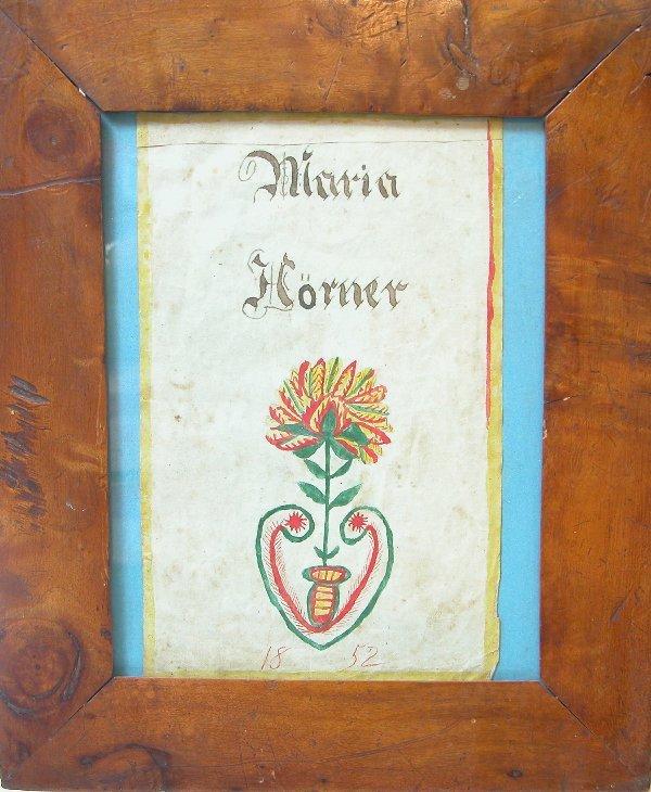 1021: Fraktur Book Plate
