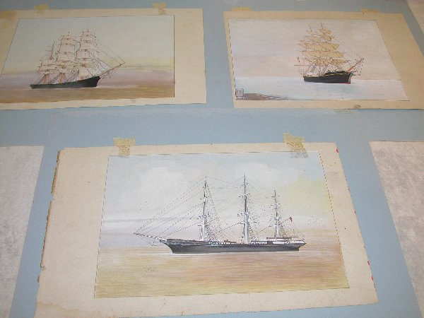 1024: Grouping of Early Sailing Ship Paintings
