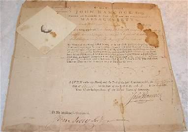 1078: John Hancock Autograph-Signer of Declaration of I