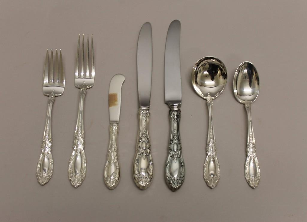 "Towle Sterling Silver ""King Richard"" Flatware Set"