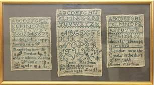 19th c. Hardman Family Samplers