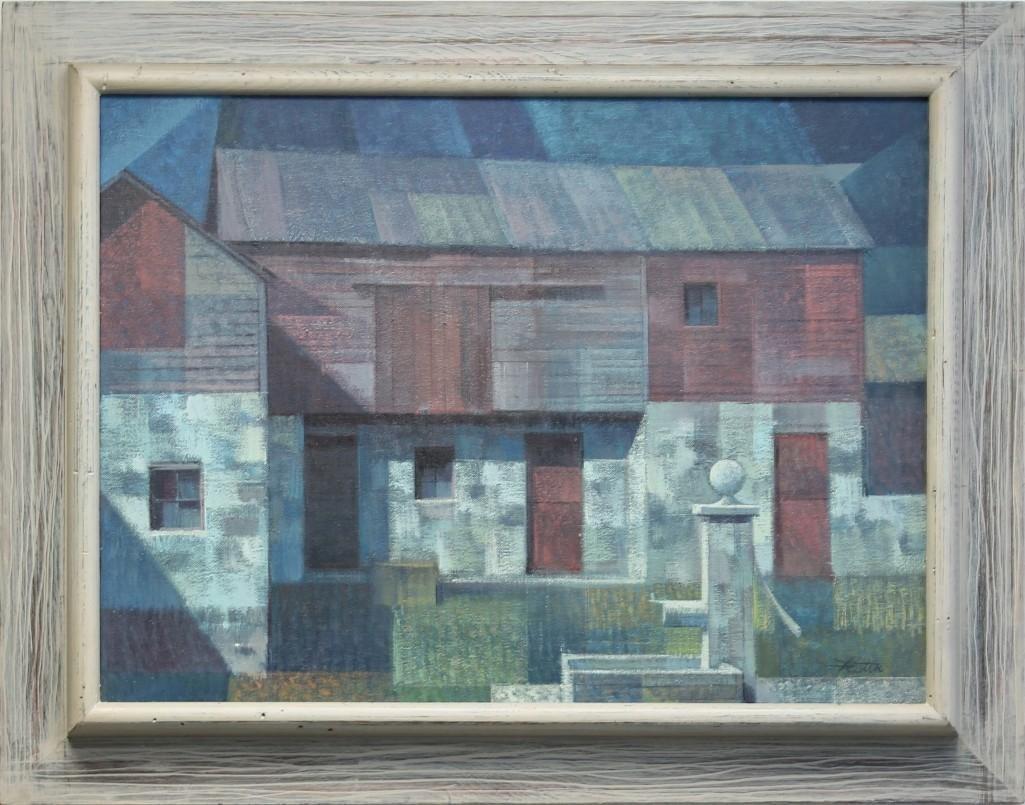 R. John Foster (1908-1989, Pennsylvania) Red Barn