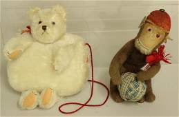 PAIR OF UNMARKED VINTAGE COMMERCIAL ANIMALS: